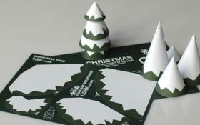 Albero Di Natale Con La Neve Da Scaricare Stampare E Costruire Con