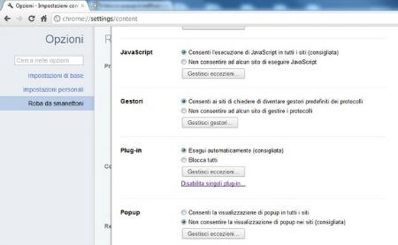 Chrome come bloccare i siti di phishing e le fastidiose - Bloccare apertura finestre chrome ...