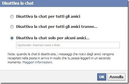 Facebook come figurare offline solo ad alcuni amici for Segreti facebook