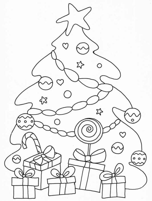 Amato Alberi-di-Natale-da-colorare-con pacchi regalo – Segreti e  NS87