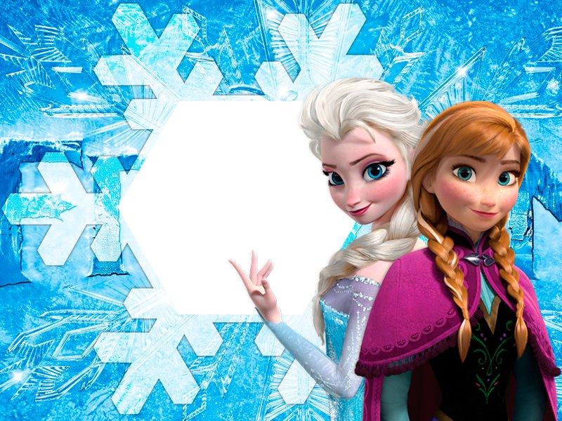 Fotomontaggio Con Anna Ed Elsa Di Frozen