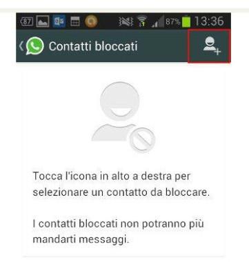 I contatti non appaiono in whatsapp