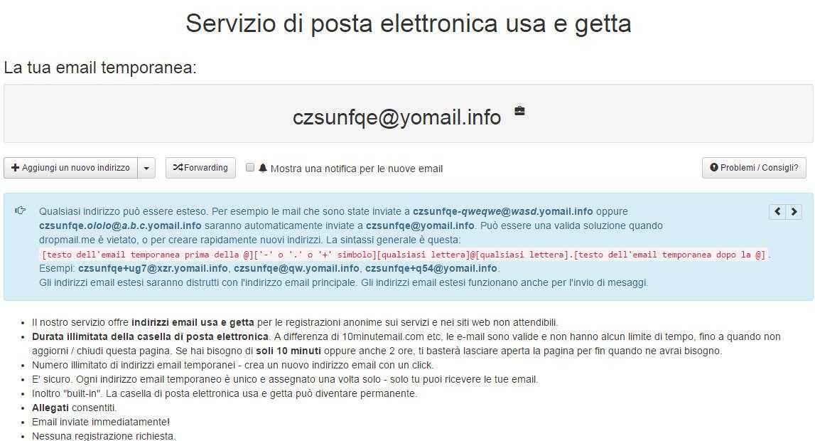 Come avere un indirizzo email gratis - lapaweb.com