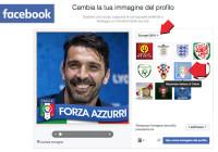 come aggiungere la scritta Forza Azzurri foto profilo Facebook
