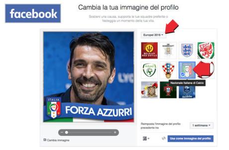 Come aggiungere la scritta forza azzurri alla foto del for Segreti facebook