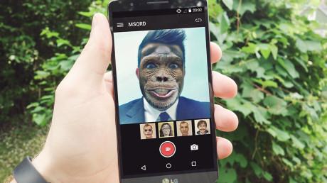 msqrd-android app per trasformare faccia scimmia cane paurosa