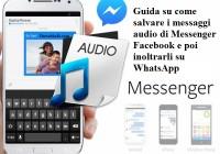 Come salvare i messaggi vocali di Messenger