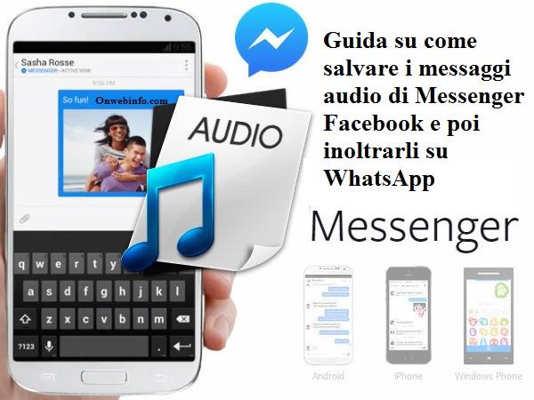 Scaricare messaggi vocali da facebook