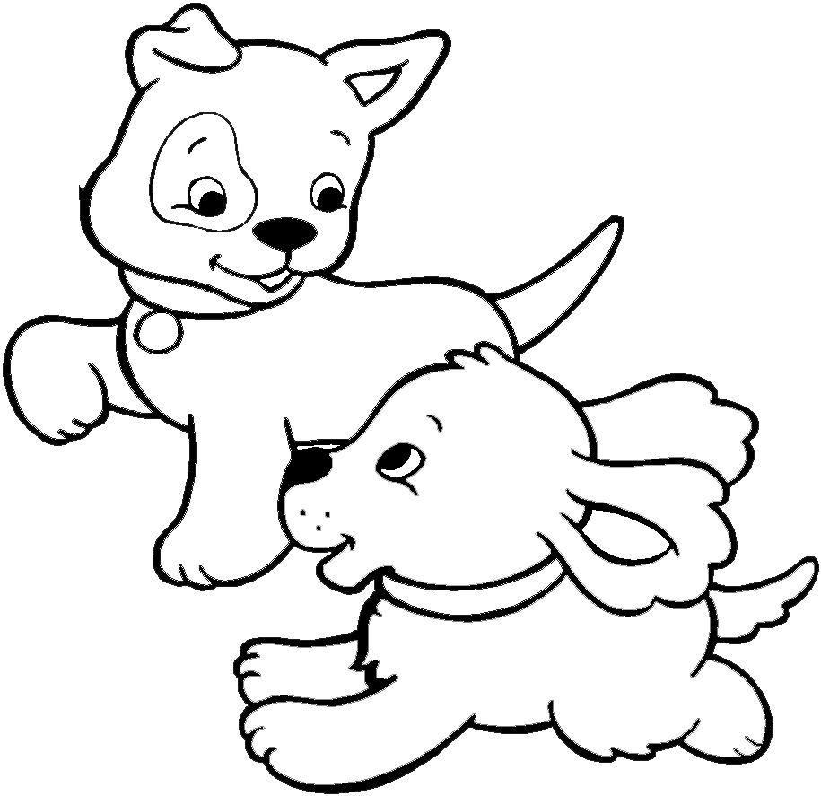 Amici cucciolotti ecco i disegni da stampare e colorare - Cane da colorare le pagine libero ...