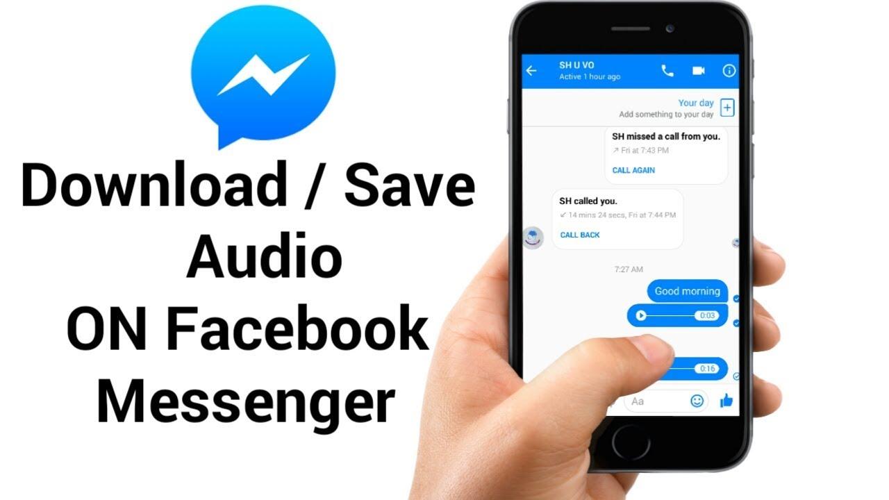 messaggi vocali da messenger